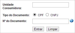 Insira os dados solicitados e clique em 'Entrar'