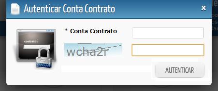 Digite o número da Conta Contrato e toque em AUTENTICAR (imagem ilustrativa)