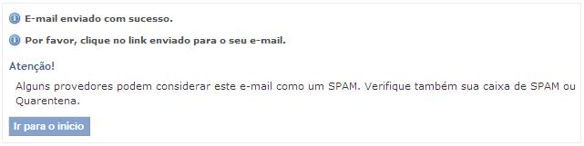 RG - email enviado com sucesso